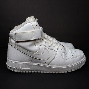 Nike Air Force One High 07 White Sz 10